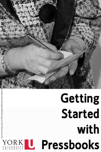 Cover image for Getting Started with Pressbooks
